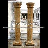Colonna dorata del travertino per la decorazione domestica Mcol-309