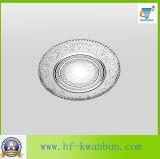 Kitchenware de vidro desobstruído do prato com bom preço Kb-Hn0379