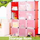 12의 입방체 모듈 플라스틱 저장 상자 형식 옷장 옷장 침실 가구