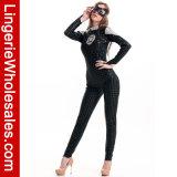 Сексуальный Costume Catsuit черноты платья партии Halloween женщин