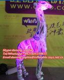 De decoratieve Opblaasbare Mascotte van de Giraf met LEIDENE Lichten
