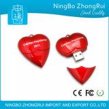 Mecanismo impulsor en forma de corazón del USB del regalo promocional al por mayor