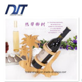Het populaire Rek of de Ambacht van de Rode Wijn van de Fles van het Bamboe Enige