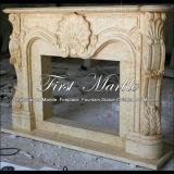 Camino di marmo Mfp-603 dell'oro del deserto del camino del granito del camino di pietra del camino