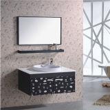 Nueva cabina de cuarto de baño montada en la pared del acero inoxidable con el espejo