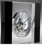 楕円形の形の真鍮の動きの最高レベルK9の水晶時計
