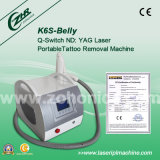 O laser portátil do ND YAG de K6s 1320nm 1064nm 632nm remove o tatuagem