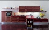 Cabina 2016 de cocina moderna ensamblada uno mismo de madera sólida de Welbom