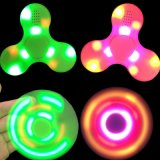 Fidget Hand Spinner USB-зарядка Светодиодный фонарик Музыка Tri-Spinner Finger Toy для детей Взрослые Беспокойство Аутизм Adhd