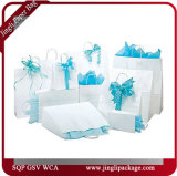 Client de papier espiègle moyen de papier estampé de Polkadot de sacs à provisions de transporteur de cadeau
