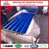 亜鉛によって塗られる波形を付けられた鋼鉄屋根瓦を着色しなさい