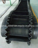 고무 Conveyor Belt Corrugated 및 Ribbed