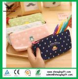 Fördernder kundenspezifischer Baumwollsegeltuch-Kind-Bleistift-Beutel mit Reißverschluss