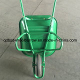 単一の空気の車輪および金属の皿が付いている一輪車を販売するマレーシアの市場
