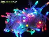 La lumière féerique de chaîne de caractères de décoration colorée extérieure de Noël de vacances de DEL