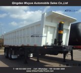 Bogie 현탁액 큰 양 2 차축과 Hyva 유압 장치를 가진 50 톤 덤프 팁 주는 사람 또는 기울이기 쓰레기꾼