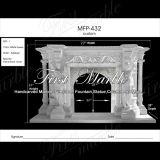 Camino bianco della scultura di Carrara per mobilia domestica Mfp-432