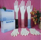 Устранимые перчатки экзамена латекса с или без порошка