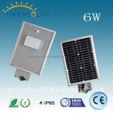 Sensor de movimiento solar ligero caliente de las luces de calle de las lámparas LED del producto 6W-120W de la venta alto