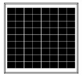 painel solar poli de 18V 15W para o sistema 12V (2017)