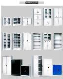 Do arquivo de aço das prateleiras ajustáveis de porta de balanço 4 da mobília do armazenamento do escritório armário cheio do arquivamento da altura