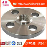 Bride plate de soudure de la face DIN2537 Pn6 d'acier du carbone de S235jr