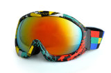 Mit hoher Schreibdichteschaumgummi eingewickelt um Skifahren-Zubehör-Schutzbrillen über Gläsern