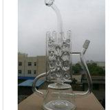 2016 waterpijpen - de Nieuwe Rokende Pijpen van het Glas van het Ontwerp met Waterpijp van het Glas van de Verkoop van Waterpijpen de Hoogstaande en Hete, de Waterpijp van het Glas