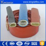 Chemise d'incendie de fibre de verre en caoutchouc de silicones de résistance thermique