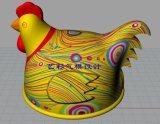 2017熱い販売の新しい普及した広告の膨脹可能な切札の鶏のレプリカ