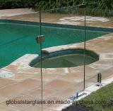 5+5, gafa de seguridad laminada clara de 6+6m m para el panel de la cerca de la piscina