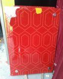 Glace peinte rouge noire blanche pour le guichet et la porte de Decoation
