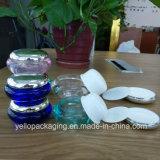 Frasco acrílico de empacotamento cosmético do plástico do frasco do frasco cosmético de Whosale