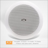 Indoor Round ABS Plastic White Monitores de tecto Bluetooth