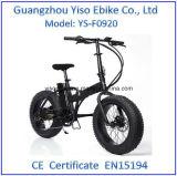 4.0の脂肪タイヤが付いている環境に優しい雪浜の折るE自転車