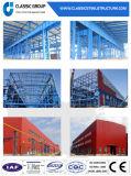 Varía colores de la casa/del taller/del almacén de la estructura de acero del panel de emparedado