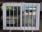 Finestra di scivolamento di alluminio rivestita di Surfacement della polvere con acciaio inossidabile Buglar Kz146 netto
