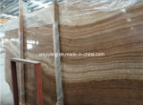 Countertop、Sink、Slab、TileのためのブラウンWood Vein Marble