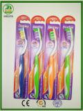 Super weicher Gummigriff mit Massage-Gummi-und Zunge-Reinigungsmittel Erwachsen-Zahnbürste