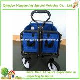 Da praia dobrável de serviço público do carro de jardim do vagão dos esportes azul vermelho de dobramento dobrável (TC0433)