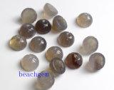 宝石類の部分自然な灰色のオニックスのロータスビード