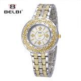 Montre chinoise de noeud de montre de quartz d'alliage de loisirs de mode de Belbi