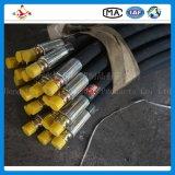 Boyau en caoutchouc hydraulique à haute pression tressé à deux fils de pétrole de R2/2sn
