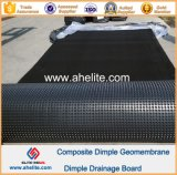 HDPE Dimple Dränage Board mit Geotextile