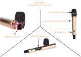 FCCが付いているプロ音声UHFの2チャンネルのカラオケの無線マイクロフォン