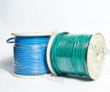 fil isolé par PVC en aluminium électrique du tonnelier 450/750V