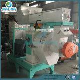 Première boulette de sciure de fabrication faisant la biomasse/bois/sciure/paume de machine