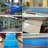 波形を付けられた電流を通された鋼板およびカラー上塗を施してある鋼板に屋根を付けること