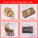 OEM Wholesale Zinc Alloy Bag Parts Metel Square Lock