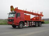 Un camion dell'impianto di perforazione montato camion superiore di carotaggio del pozzo d'acqua di profondità dei tester 60-600